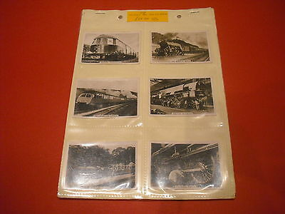 1938 British Railways Full Complete Set Senior Service Cards In Plastic Sleeves