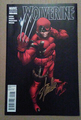 Wolverine 1 Deadpool Variant Scott Campbell Rare Gold Signature Signed Stan Lee