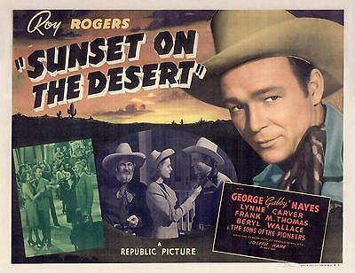 ROY ROGERS & GABBY HAYES in SUNSET ON THE DESERT * 11x14 TC print 1942
