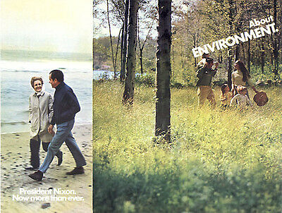 Official 1972 Richard Nixon Brochure ENVIRONMENT (1463)