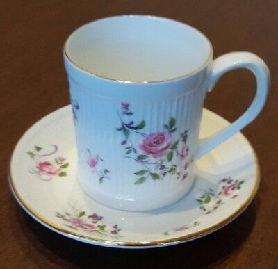 Crown Staffordshire Gold Trim with Pink Roses made in England