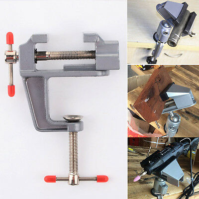 """3.5"""" Aluminum Mini Jewelers Hobby Clamp On Table Bench Vise Vice Tool Durable"""