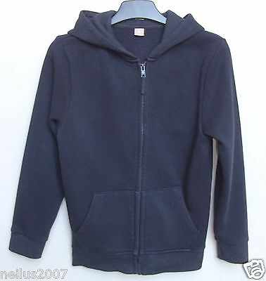 Girls Blue Navy Blue Shool PE Sport Hoodie Zipped Jumper Jacket Hoody Age 8
