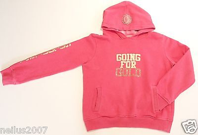Girls Golddigga Pink Hoodie Going For Gold Long Sleeve Hooded Jumper Age 13