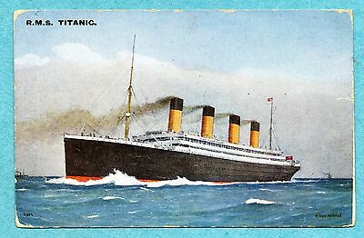 A2459 RMS Titanic postcard, Post sinking Colored