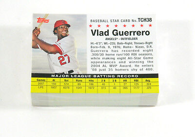 Lot of (50) 2008 Topps Trading Card History Vladimir Guerrero TCH38 Angels Nm/Mt