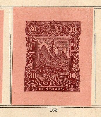 Nicaragua 1893 Early Issue Fine Mint Hinged 30c. Imperf 093727
