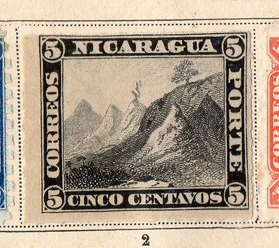 Nicaragua 1862 Early Issue Fine Mint Hinged 5c. 093811