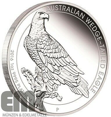 Australien - 100 Dollar 2016 - Wedge Tailed Eagle - 1 Oz. Platin in PP