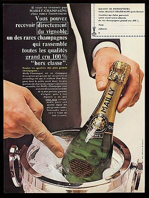 1975 Mailly champagne bottle photo vintage French print ad