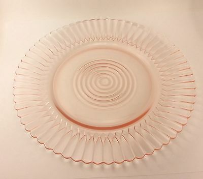 Macbeth Evans Depression Pink Glass Petalware Salad Plate s  8""