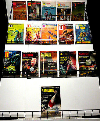 WORLDS OF IF / SATELLITE science fiction digest magazines 1950s-60s Clarke Dick