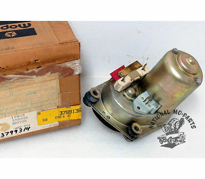 "Mopar ""NOS"" 1976-78 Aspen & Volare 2 Speed Wiper Motor without Delay 3799314"