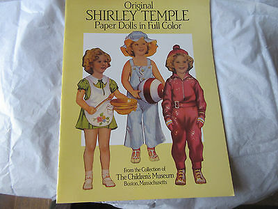 1988 Reproduction ORIGINAL SHIRLEY TEMPLE PAPER DOLLS Boston Children's Museum