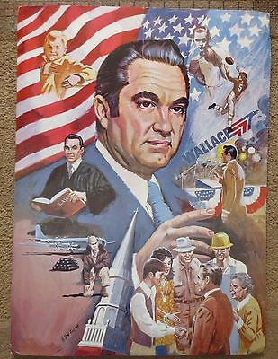 ORIGINAL Poster GEORGE WALLACE  1968 American Independent Party 22.5 x 16.5