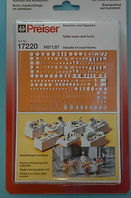 Preiser 17220 Tableware and Food model railway Accessorie HO NEW