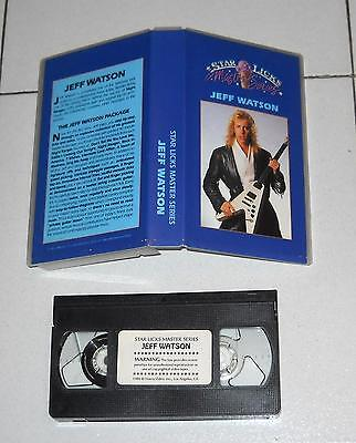 Vhs JEFF WATSON Star Liks Master Series 1986 Guitar Chitarra Heavy metal