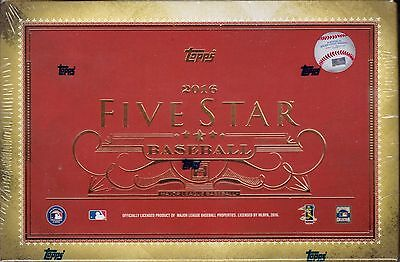 2016 Topps Five Star Baseball sealed unopened hobby box 2 autograph cards