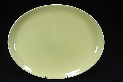 """Russel Wright China By Iroquois Avocado-Yellow Platter 9.5"""" x 12.5"""" Excellent"""