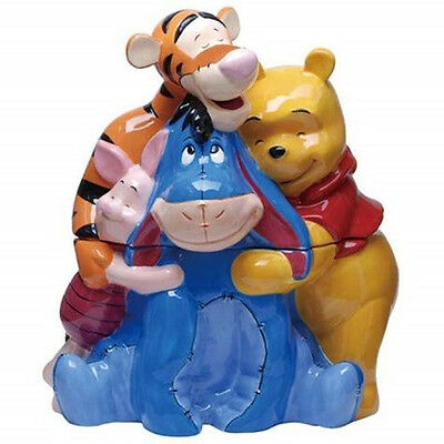 Walt Disney's Winnie the Pooh and Friends Time For A Hug Ceramic Cookie Jar, NEW