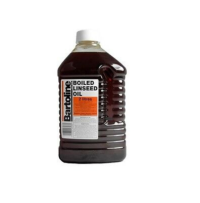 2Ltr Boiled Linseed Oil Bartoline Wood Treatment Internal And External Sealer 2L
