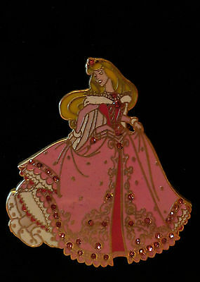 DISNEY AURORA Holiday Pave Crystal Dress LE 250 Pin SLEEPING BEAUTY New on Card