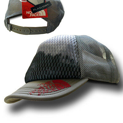 North Face Unisex Runners Trucker Mid Grey Hat (One Size)