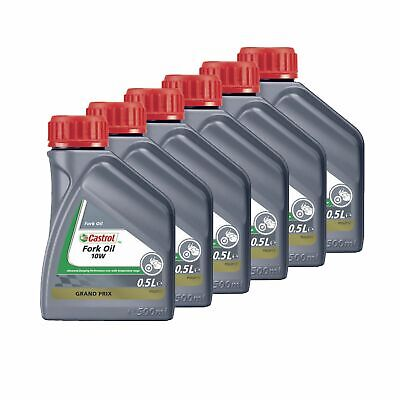 Castrol Motorcycle/Bike/Motocross 10W Monograde Suspension Fork Oil - 3 Litre
