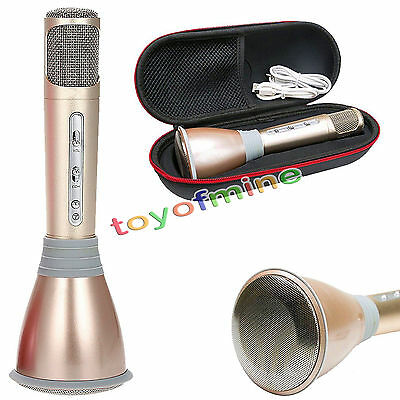 New Gold K068 Home KTV Karaoke Microphone Player Bluetooth Speaker For PC Phone