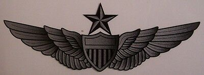 Gold and Black Army Aviation Wings Window Strip Decal