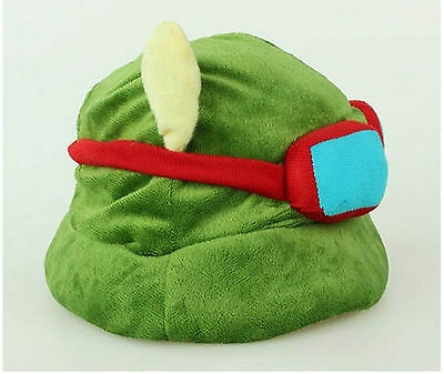 Teemo Hat Cool Cute Cosplay Green League of Legends LOL New Hot Plush Suit Style