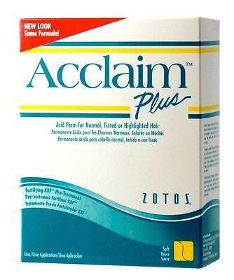 Zotos ACCLAIM Soft Curl Perm Lotion NORMAL FINE or TINTED HAIR - WHITE BOX