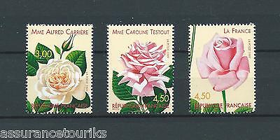 FRANCE - 1999 YT 3248 à 3250 ROSES - TIMBRES NEUFS** LUXE