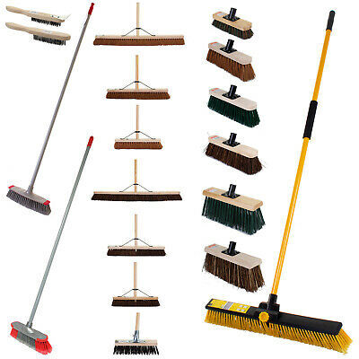 Garden Outdoor Sweeping Broom Brush Wooden Handle Soft Stiff Head PVC Sweeper