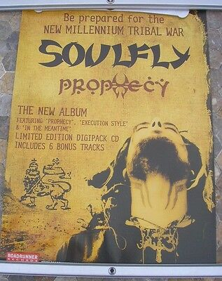 FEAR FACTORY/SOULFLY 2004 d/sided promo poster 24 x 16  original