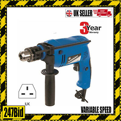 500W Variable Speed Electric Hammer Action Power Drill For Steel Concrete & Wood