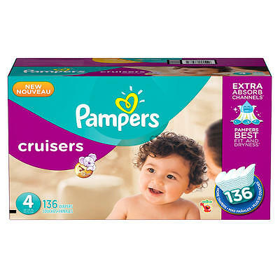 Pampers Cruisers Size 4 Diapers Economy Pack - 136 Count