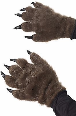 NEW Smiffys Werewolf Halloween Wolf Gloves Hands Fancy Dress Costume Accessory