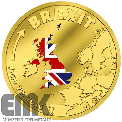 Cook Islands - 20 Dollar 2016 - BREXIT - 1/10 Oz. Gold in PP - June 23rd 2016