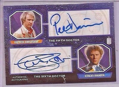 Topps 2015 Doctor Who Dual Autograph Card Davison / C. Baker FREE S/H   RARE!!