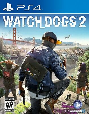 3Gioco Playstation 4 Ps4 Watch Dogs 2 Nuovo Italiano Sigillato Watchdogs 2 New