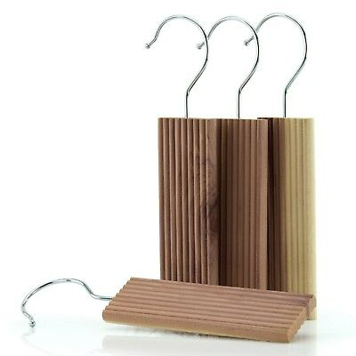 6 Cedar Wood Moth Repellent Coat Hanger Blocks & Odour Protection Hangerworld