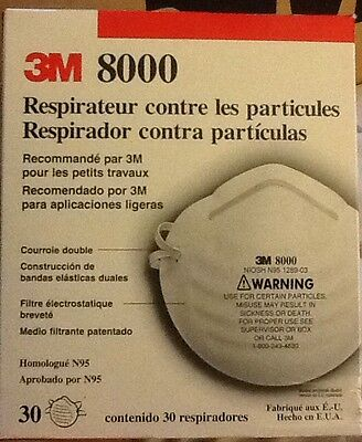 10 Particle Dust Masks 3M 8000 Protective N95 approved