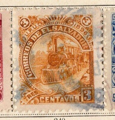 El Salvador 1896 Early Issue Fine Used 3c. 094087