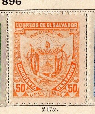 El Salvador 1896 Early Issue Fine Mint Hinged 50c. 094095