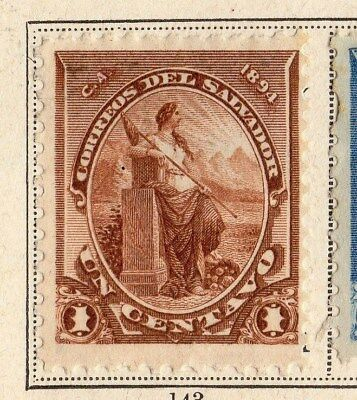 El Salvador 1894 Early Issue Fine Mint Hinged 1c. 094195