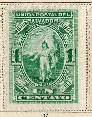 El Salvador 1887-89 Early Issue Fine Mint Hinged 1c. 094223