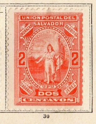El Salvador 1887-89 Early Issue Fine Mint Hinged 2c. 094224