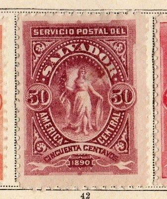 El Salvador 1890 Early Issue Fine Mint Hinged 50c. 094232