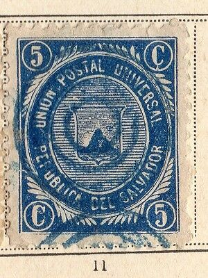 El Salvador 1879 Early Issue Fine Used 5c. 094240